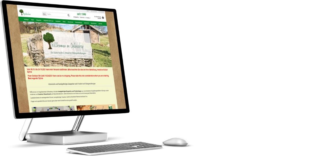 Hagedisenhain.de   Gambio Onlineshop und Logodesign